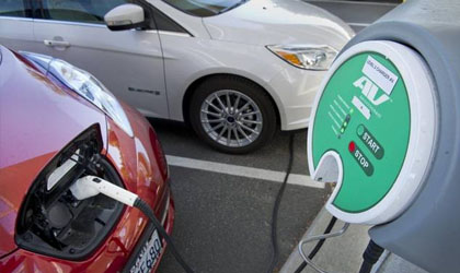 business electric vehicle charging stations